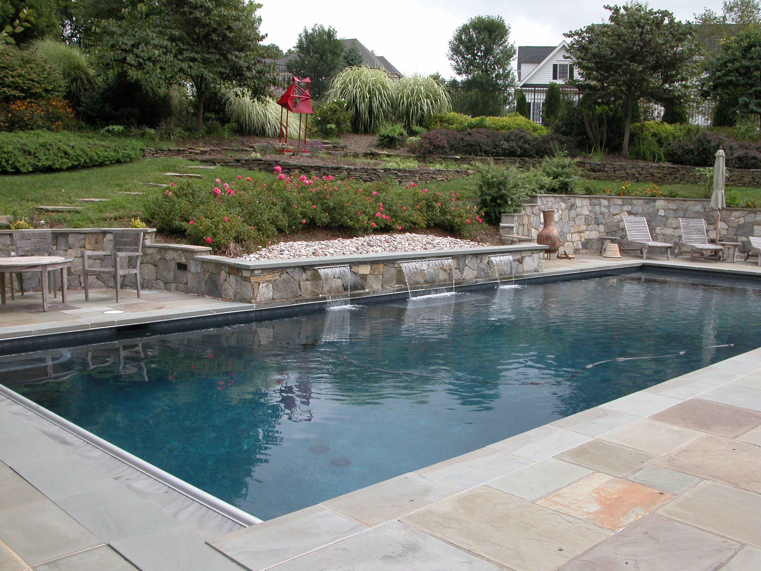 Rectangular Pool Landscape Designs pool landscape ideas on a budget | dc swimming pools spas dc