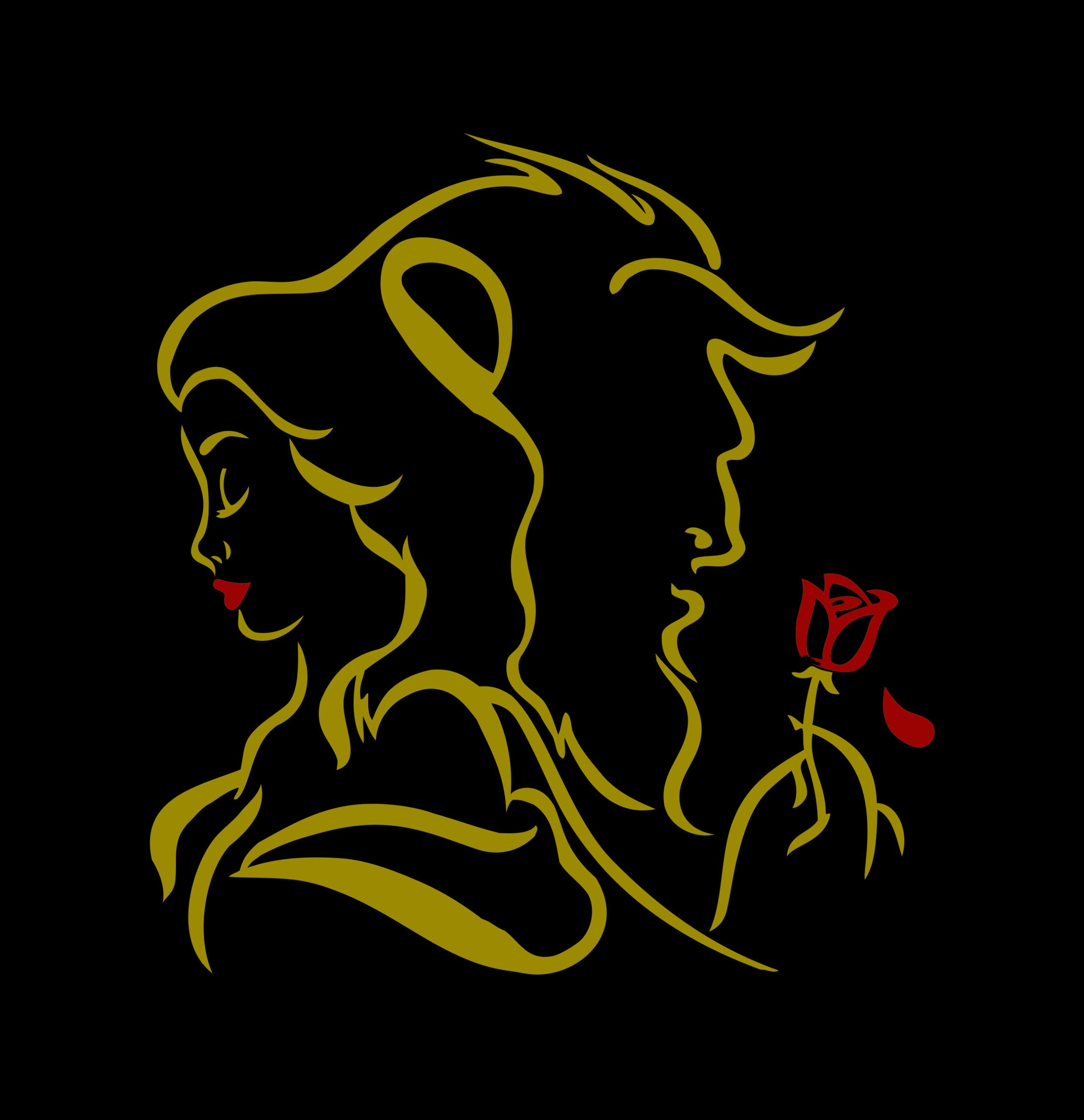 Beauty And The Beast Decal Sticker Fairy Tale Decal Love Etsy Beauty And The Beast Decals Stickers Fairy Tales [ 2646 x 2562 Pixel ]