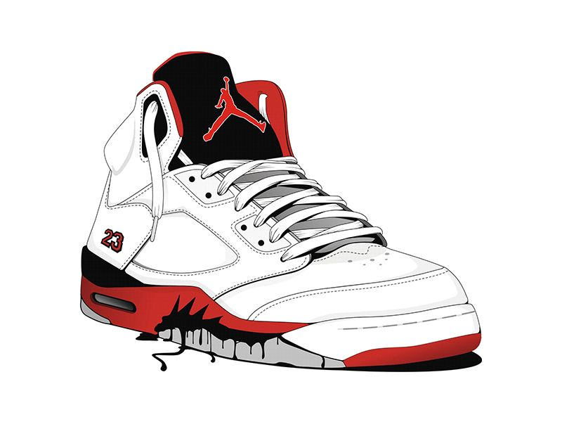Jordans illastrastion | Dribbble - Jordan shoe Illustration by Andreja  Popovic