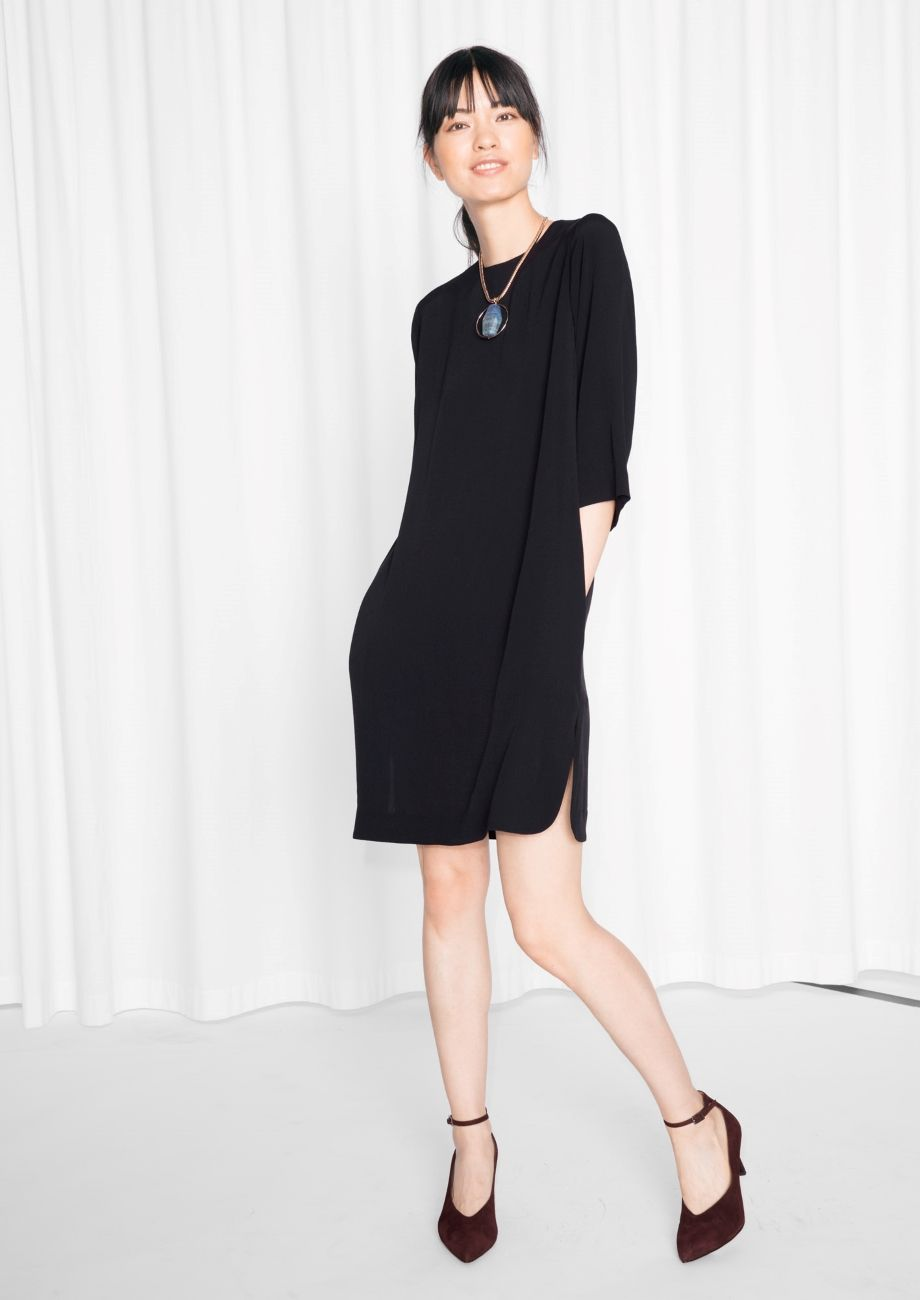 Other Stories Image 1 Of Crepe Dress In Black Crepe Dress Black Dresses Classy Little Black Dress [ 1300 x 920 Pixel ]