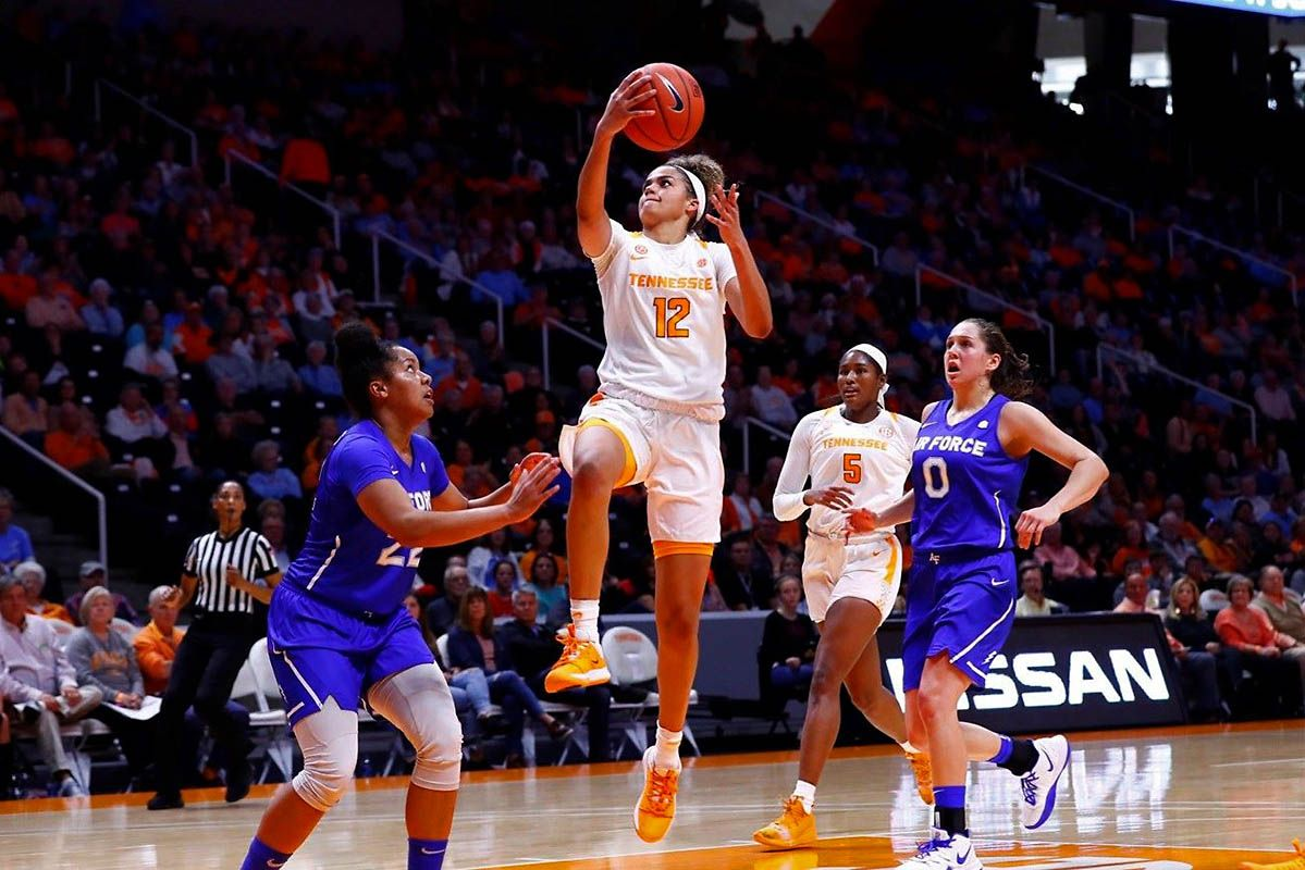 Tennessee Lady Vols Basketball shoots down Air Force, 81