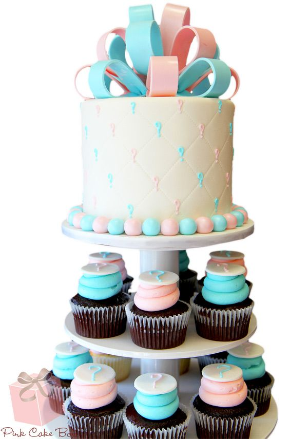 Gender Reveal Cupcake Stand Baby Shower Cupcake Towers Cakes