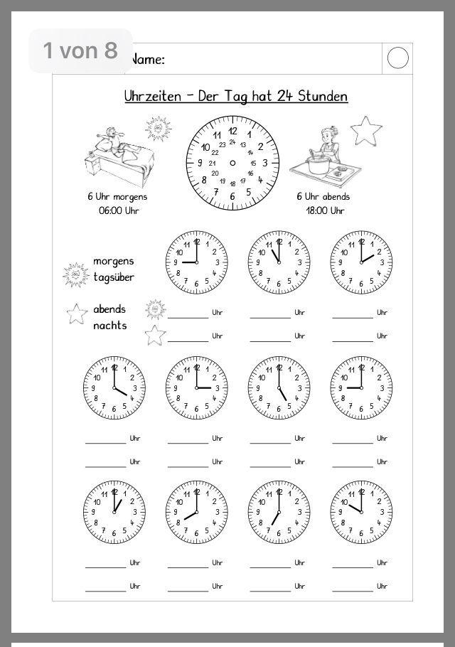 Arbeitsblätter Grundschule 1 Klasse Ausdrucken