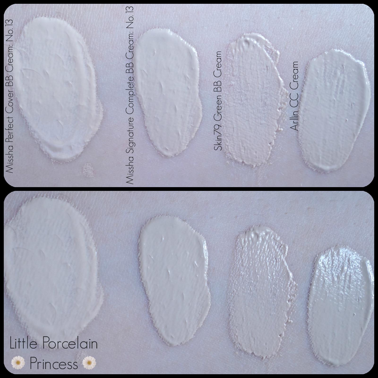 BB Cream Swatches Bb cream, Bb cream best, Pale skin make