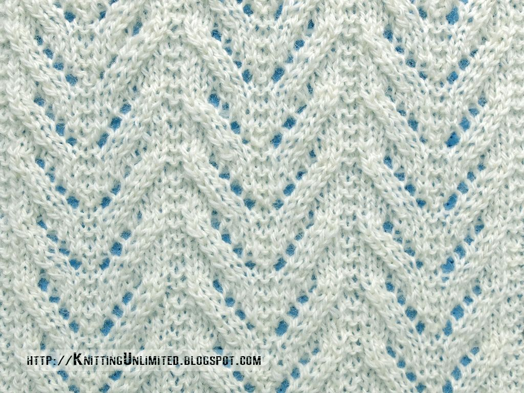 Lace Stitches for Spring 2016 - Pattern 10/10 - Chevron Lace | DIY ...