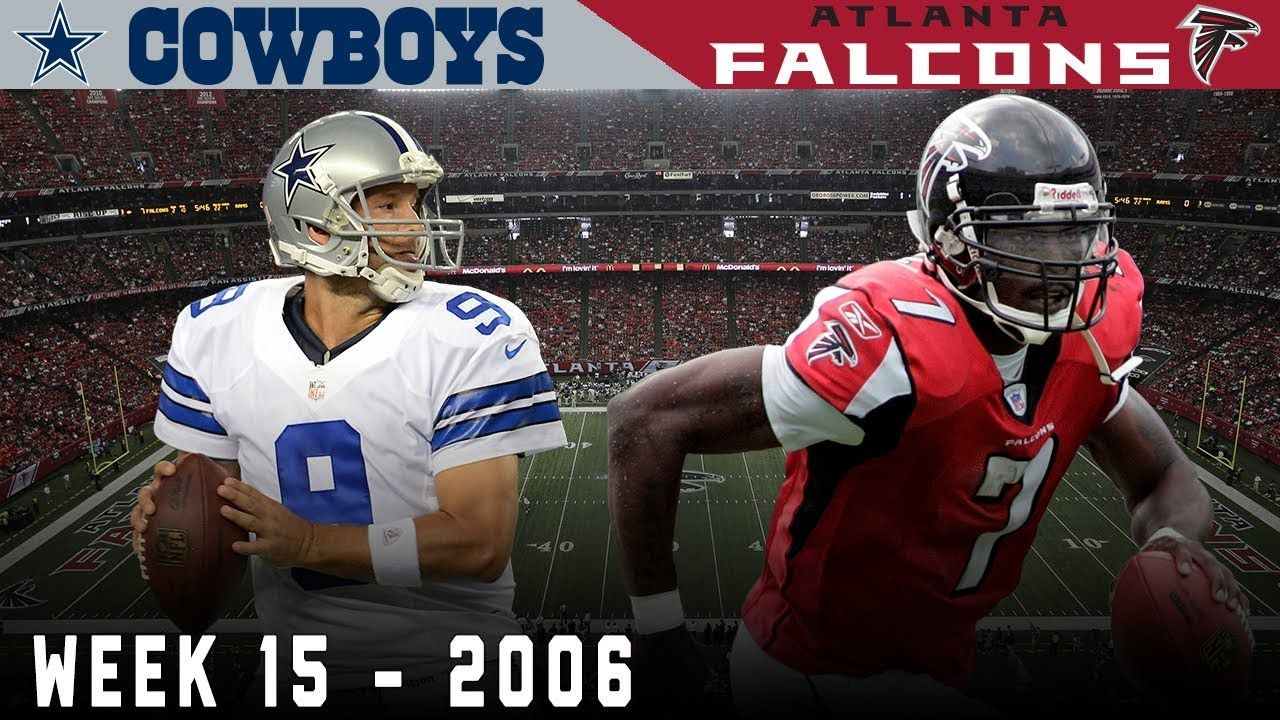 Romo Vick Battle For Playoff Positioning Cowboys Vs Falcons 2006 Nfl Vault Highlights Youtube In 2020 Nfl History Michael Vick Cowboys Vs