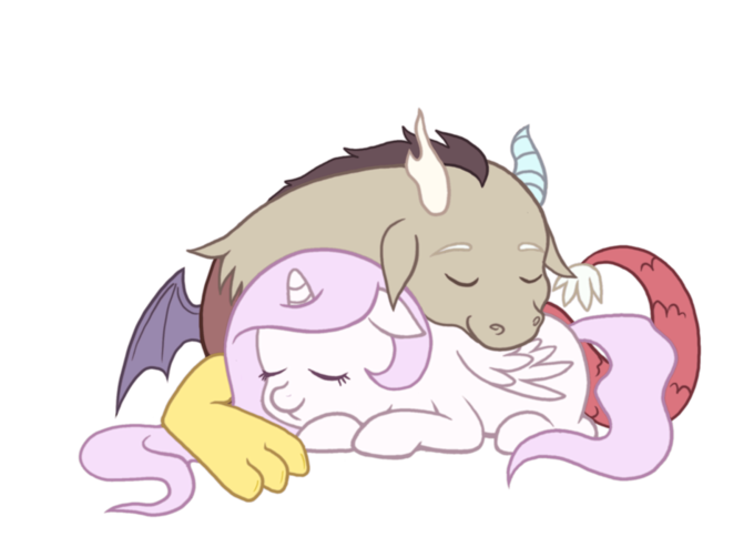 Celestia and Discord as babies
