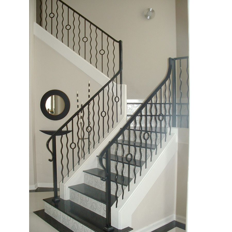 Shop House Of Forgings Solid 44 In Satin Black Wrought Iron Versatile Stair  Baluster At