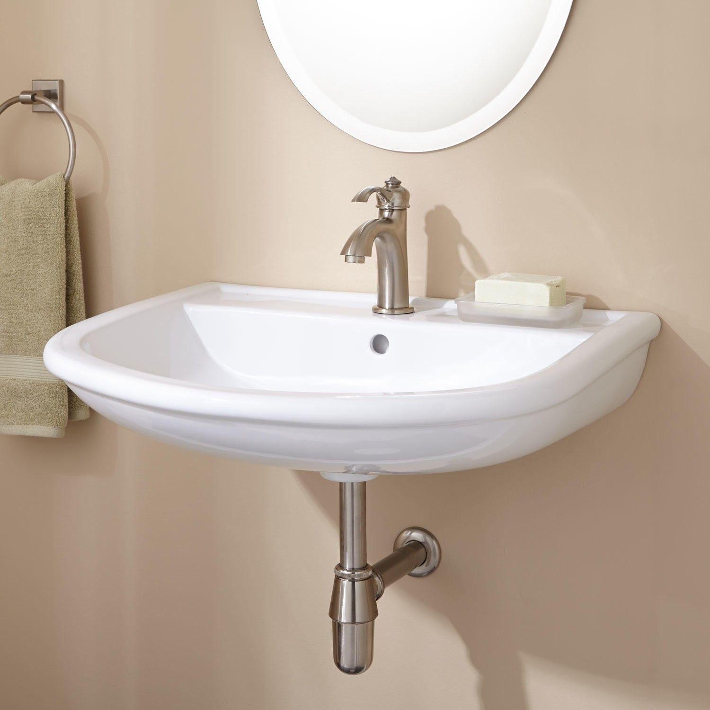 Burgess Wall Mount Semi Pedestal Sink Pedestal Sink Sink Pedestal Bathroom Sink