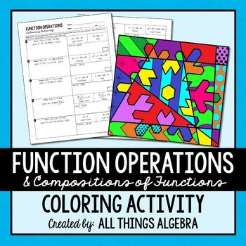 Function Operations And Compositions Coloring Activity Algebra