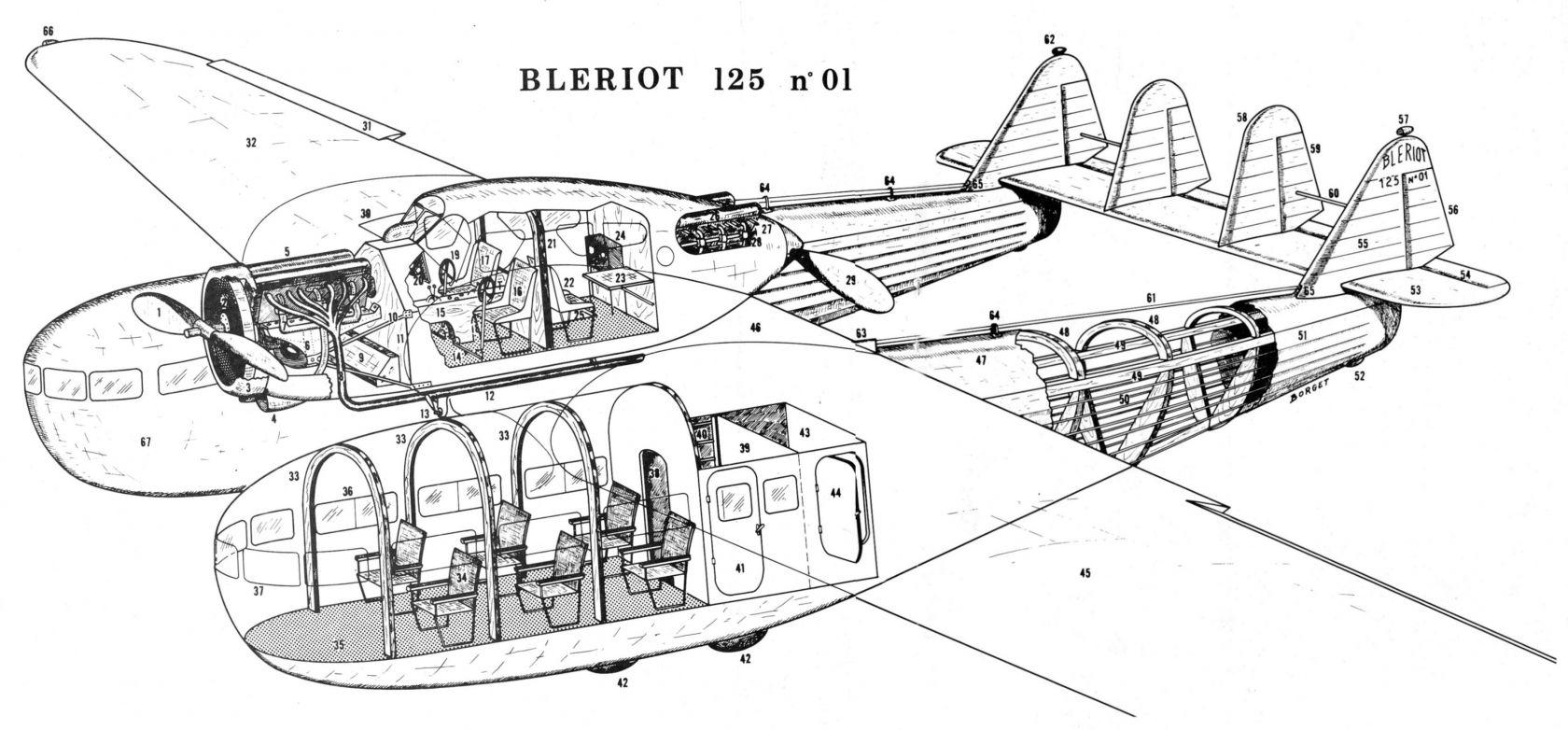 Bleriot 125 Airliner Prototype
