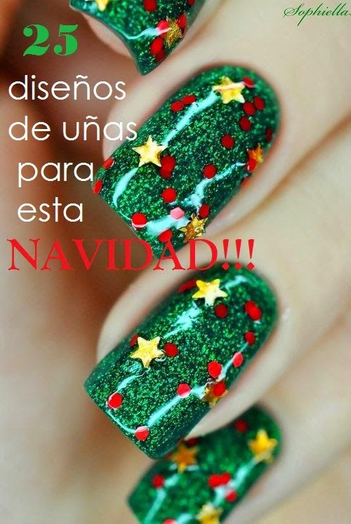 Ideas en manicuras de art nails para Navidad | Diseños de uñas ...