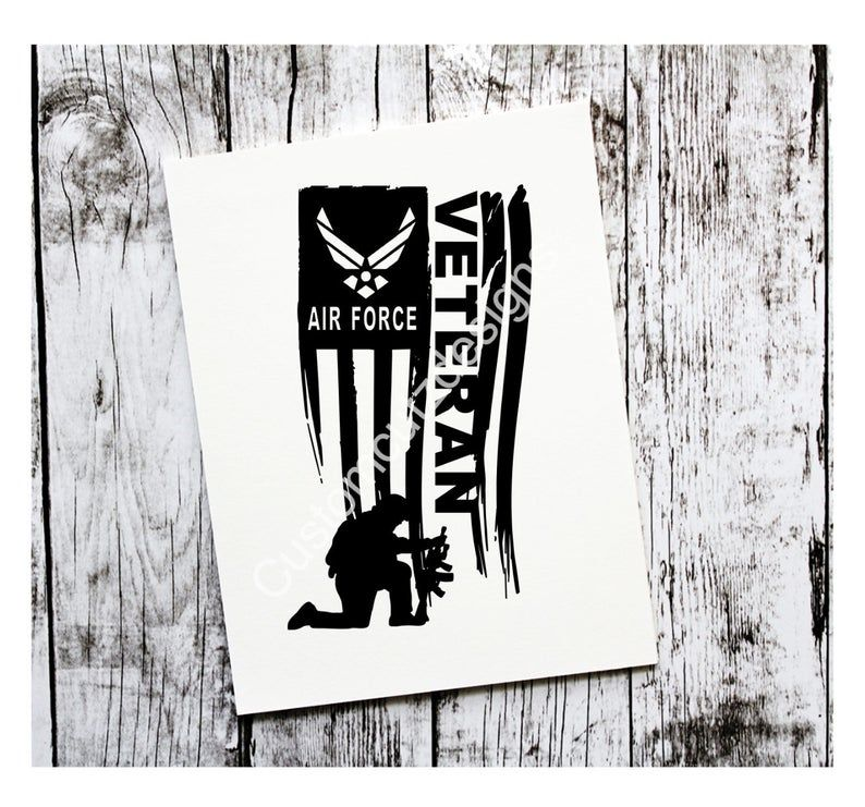 Air Force Veteran Vinyl Decal, Military, Air Force Decal
