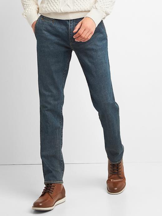 Gap Mens Slim Fit Chino Jeans (Stretch) Worn Dark Tint Size 36W ... 83f9d8e829fb8
