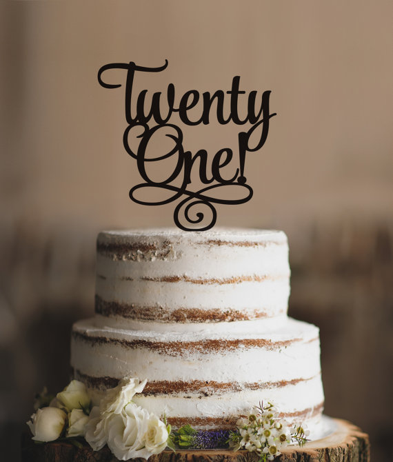 Twenty First Birthday Cake Topper Classy 21st One T2