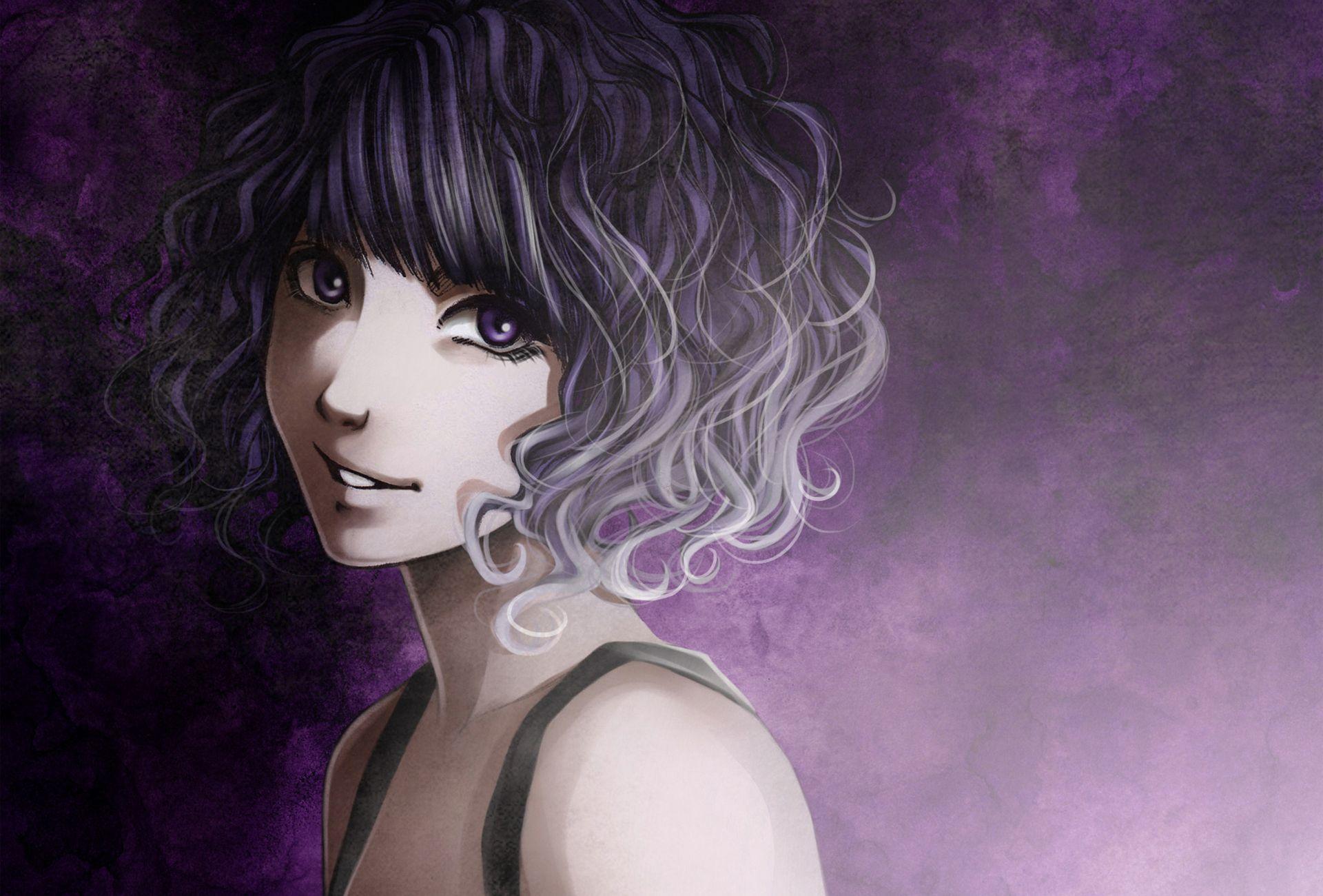 curly hair Darker Anime Pinterest Dark anime and Anime