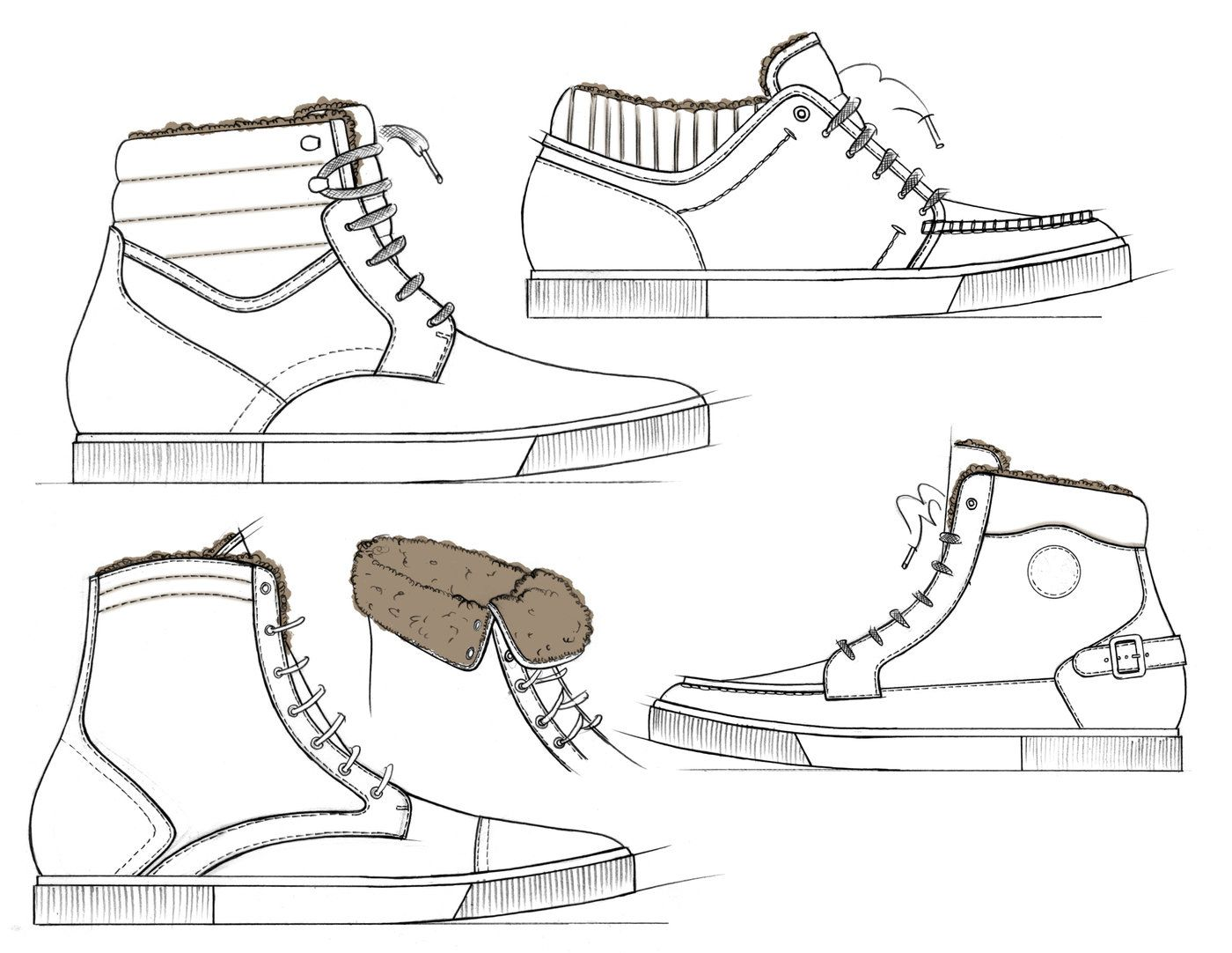 Footwear Sketches By Jason Clifton At Coroflot Com Pictures Of Shoes Shoe Design Sketches Shoes Drawing