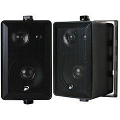 "Dayton IO435B 4"" 3-Way Indoor/Outdoor Speaker Pair Black by Dayton. $48.29"