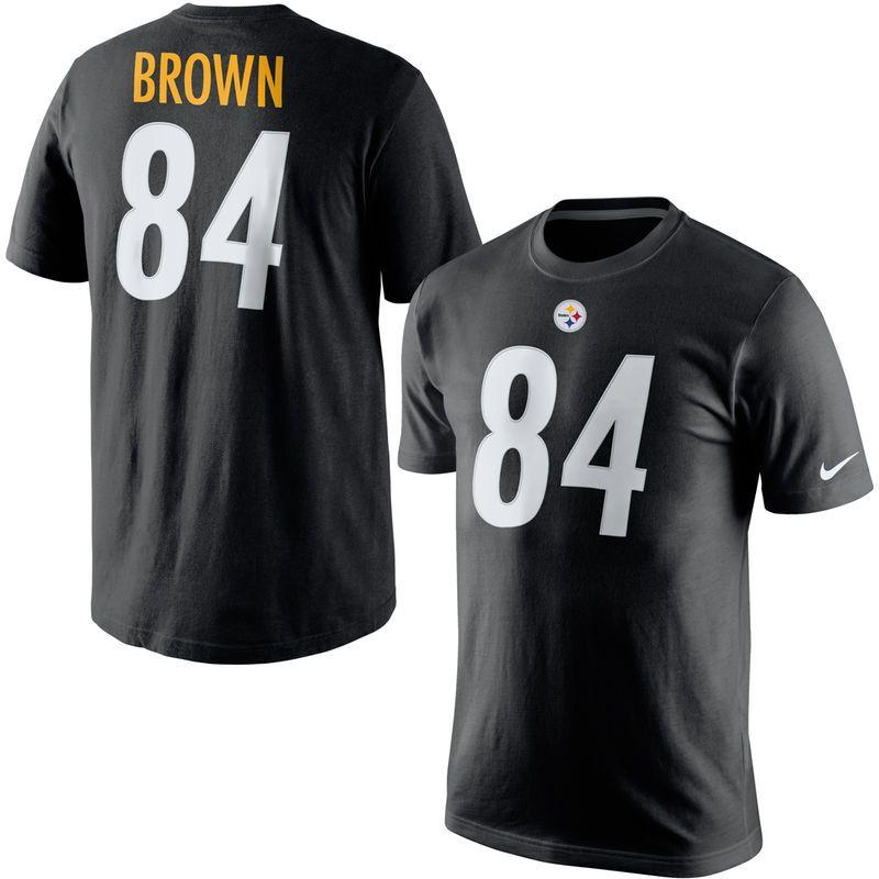8fc104ac4 Antonio Brown Pittsburgh Steelers Nike Player Pride Name   Number T-Shirt -  Black