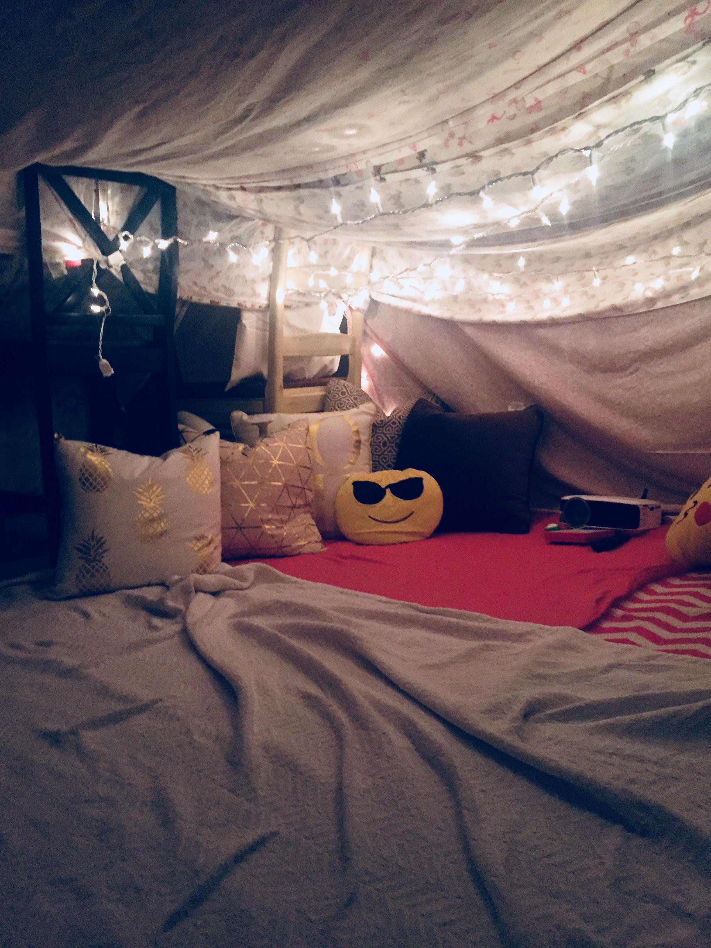 DIY fort  Sleepover room, Sleepover forts, Diy fort