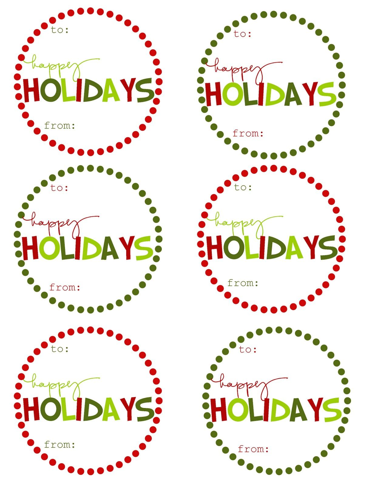 Free Printable} Christmas Gift Tags | etiquetas | Pinterest ...