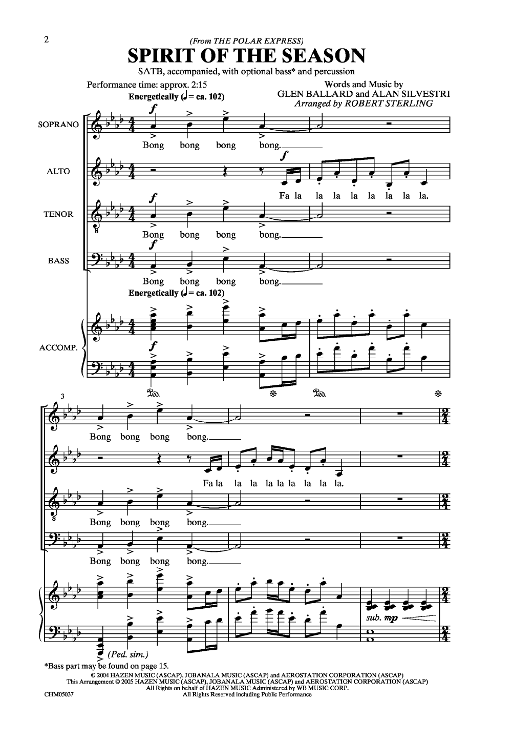 Spirit of the Season (SATB ) by Glenn Ballar | J W  Pepper