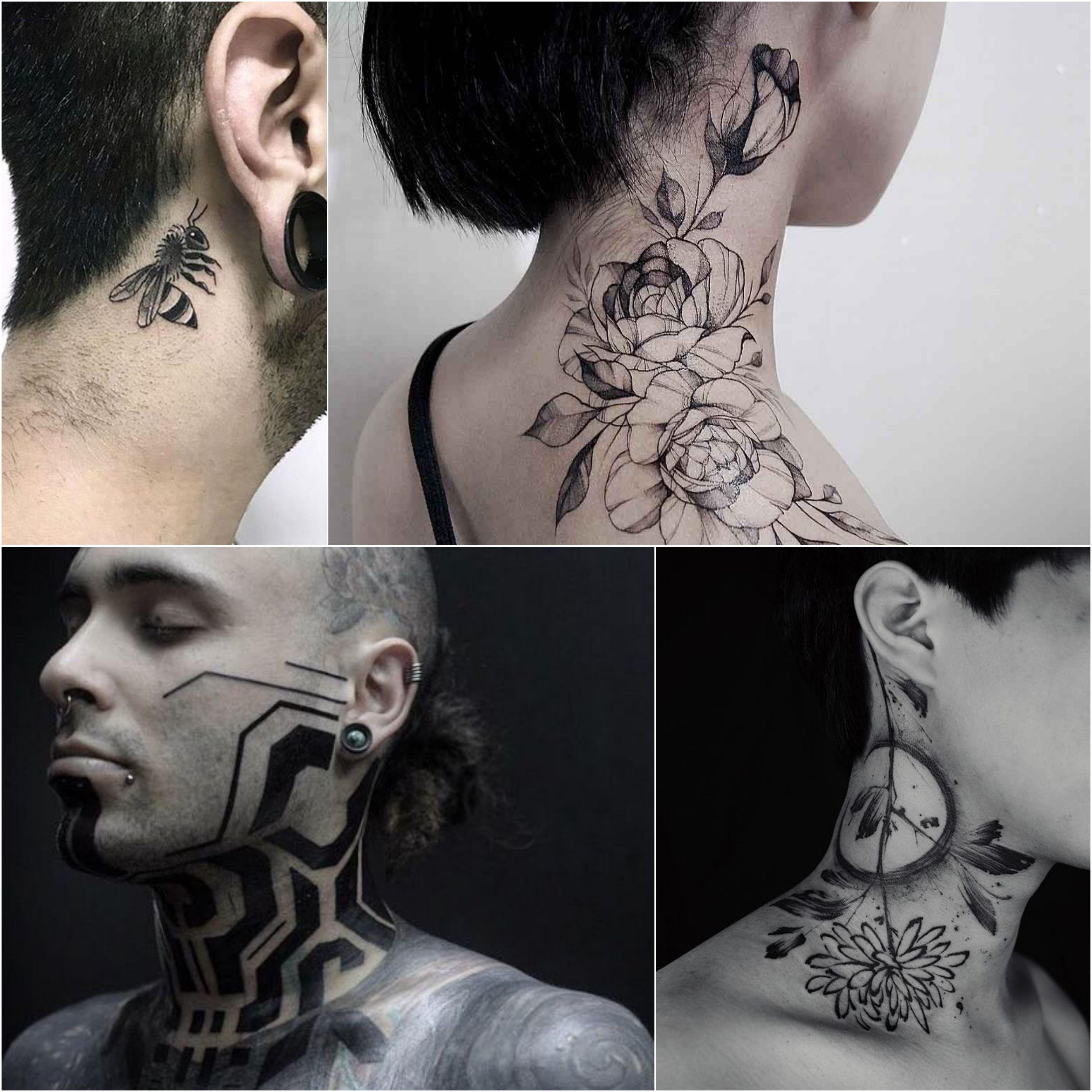 100 Best Neck Tattoo Designs Creative Neck Tattoo Ideas Gallery Side Neck Tattoo Best Neck Tattoos Girl Neck Tattoos