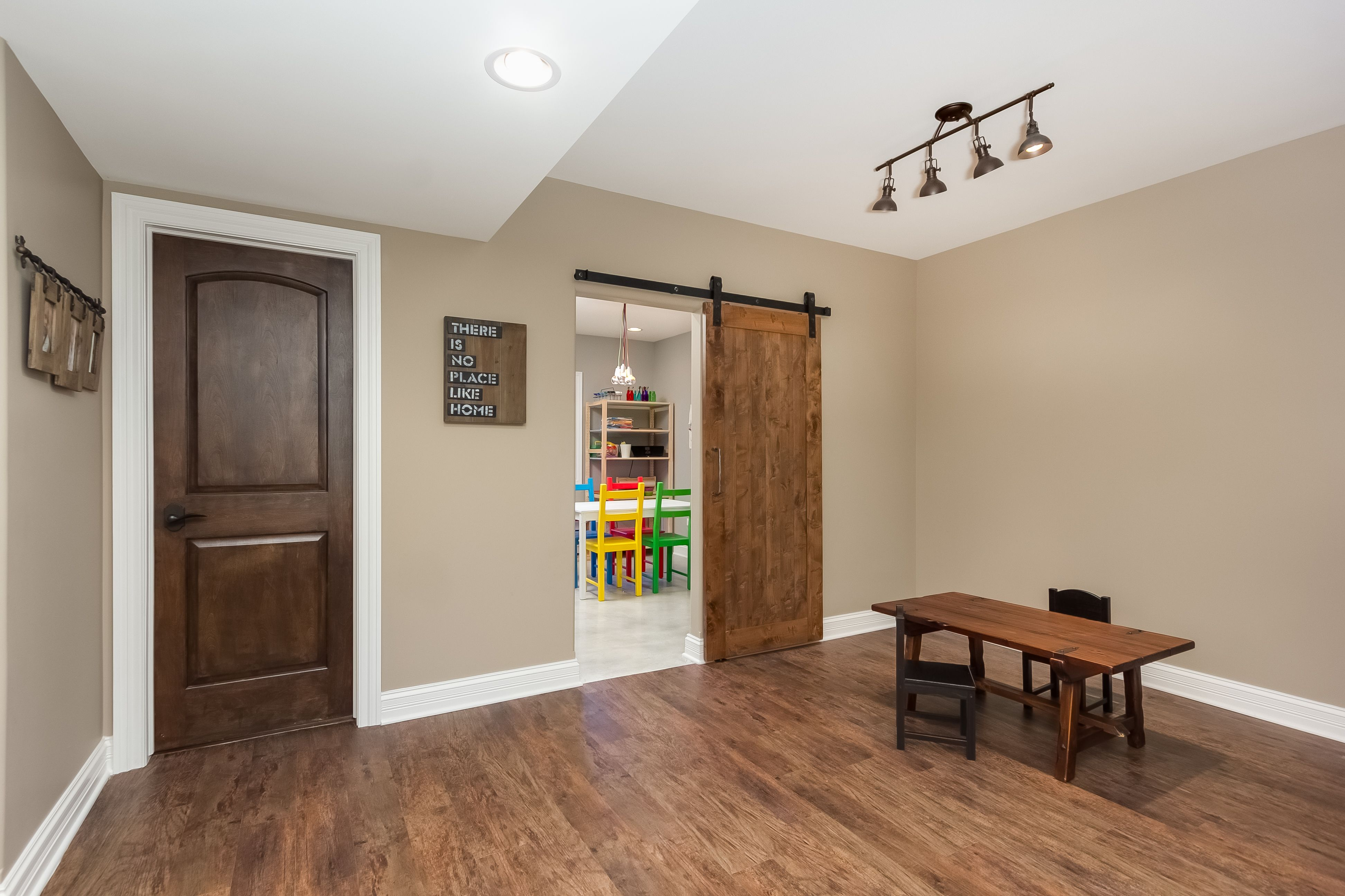 finished basement company sliding barn door from rustica hardware