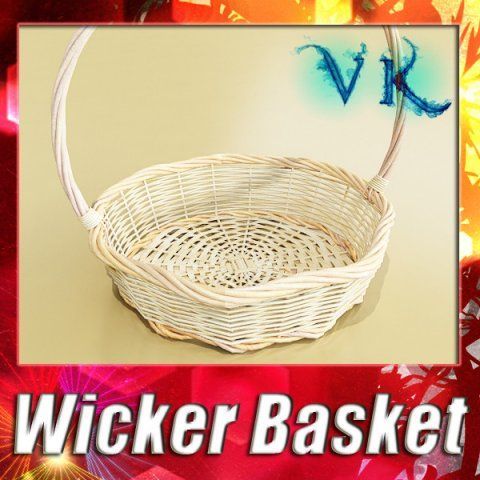 3D Model Wicker Basket c4d, obj, 3ds, fbx