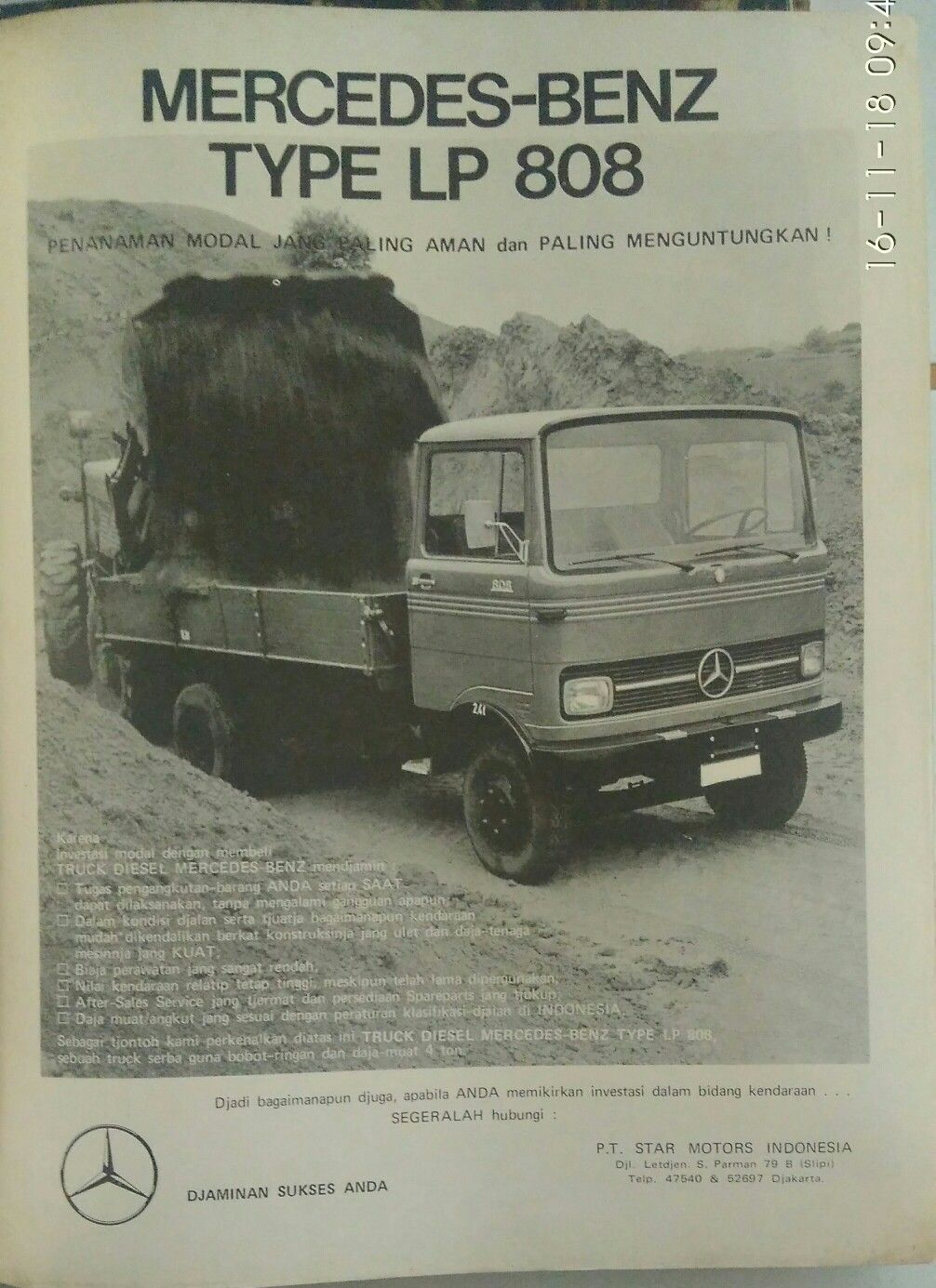 Iklan Mercedez Benz Lp 808 Dengan Gambar Mercedes Benz