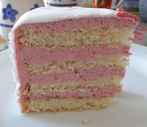 Erdbeer Vanille Buttercreme Cakes Cake Frosting Und Fondant