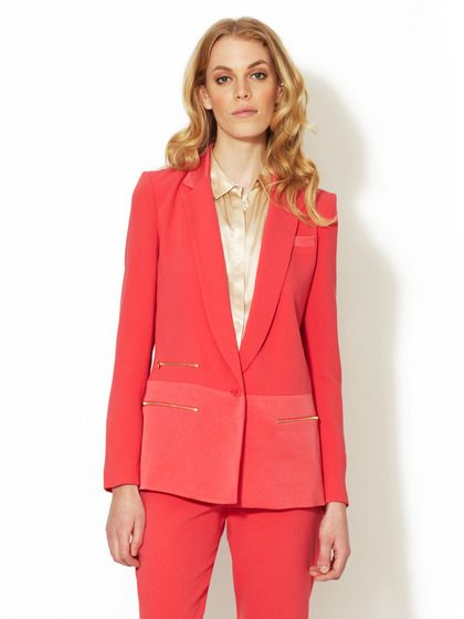 Crepe Zipper Jacket by Maje on Gilt.com