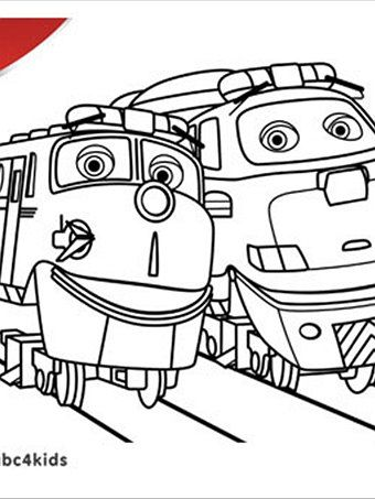 chugginton jackman colouring pages - Chuggington Wilson Coloring Pages