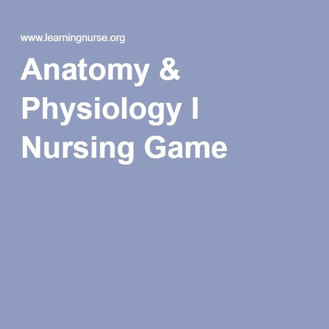 Anatomy & Physiology I Nursing Game | Anatomy & Physiology ...