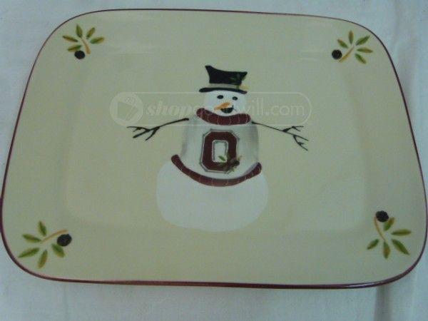 shopgoodwill.com: Ohio State Snowman Plate by Hartstone