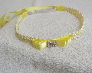 faixa RENDA GUIPIR amarela e laço