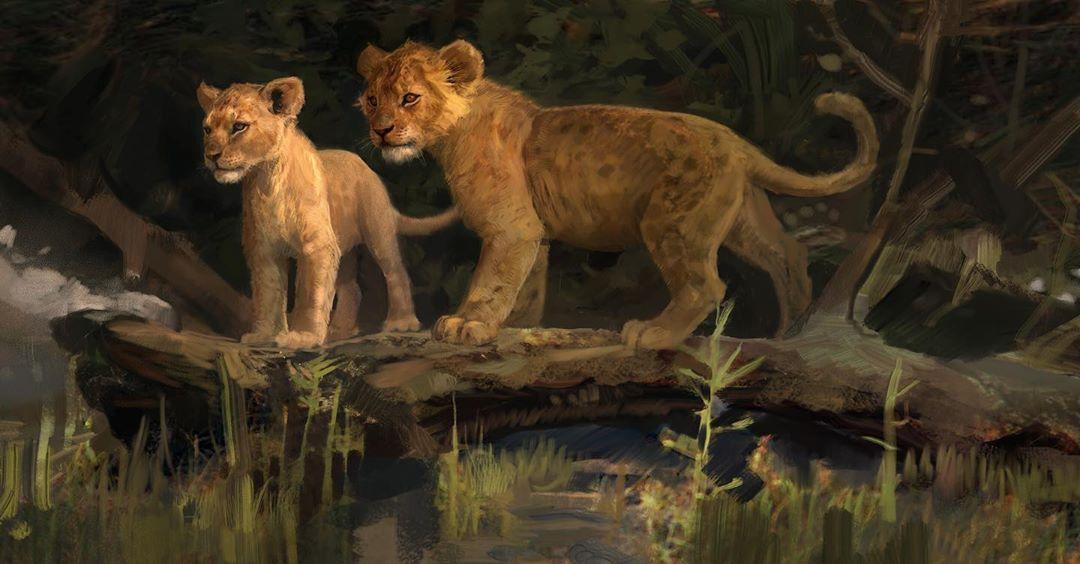 Simba And Nala Concept Art For Thelionking Lionking Lionking2019 Disney Jonfavreau Conceptart Illustration Simba Lion King Art Simba And Nala Lion King