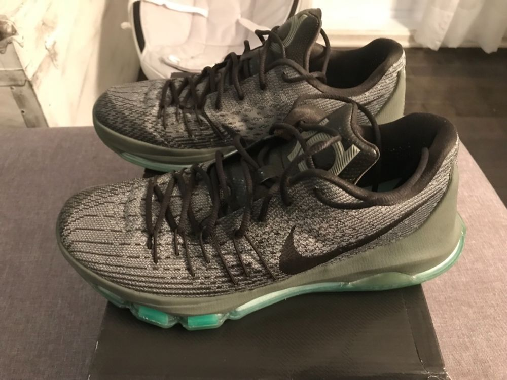 cfc46f6a11f2 Nike 11.5 Men s KD8 Night Silver Deep Pewter Green Glow Hunts Hill Night  Shoes