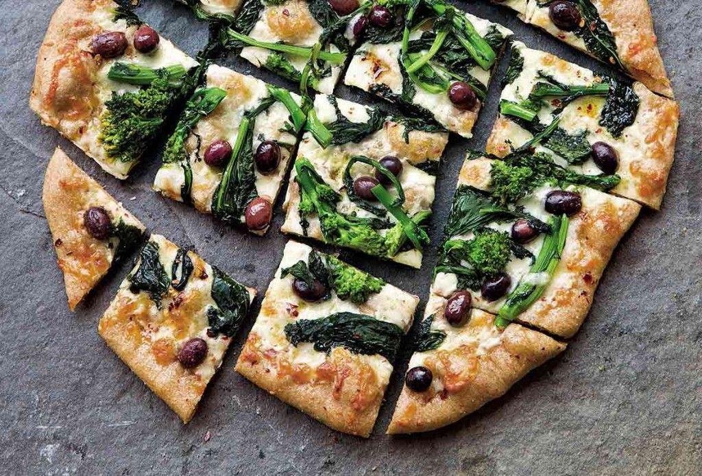 Broccoli rabe pizza recipe vegetarian recipes recipes food