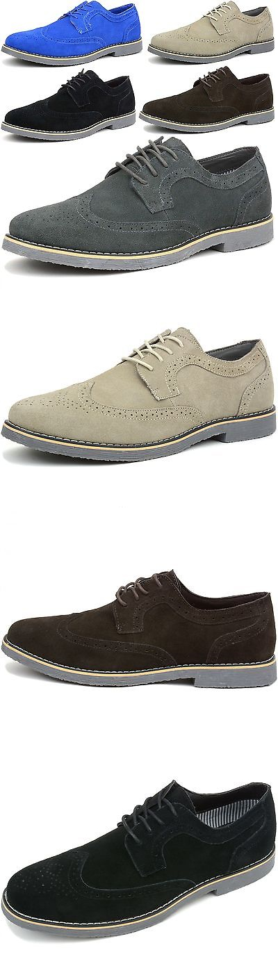 c61beb4962af Dress Formal 53120: Alpine Swiss Beau Mens Dress Shoes Genuine Suede Wing  Tip Brogue Lace Up Oxfords -> BUY IT NOW ONLY: $39.99 on eBay!