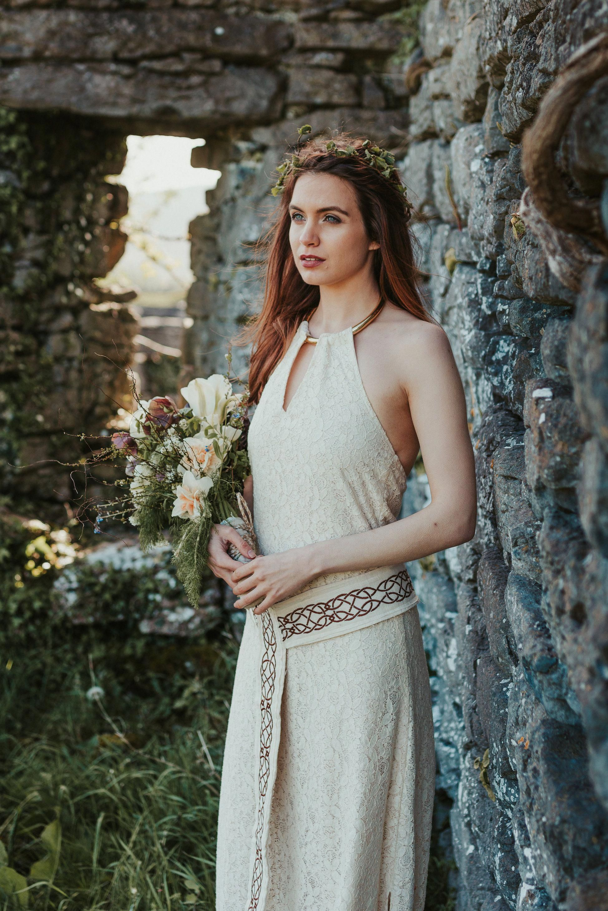 Medb Pagan wedding Dress, Celtic Wedding, Natural Wedding