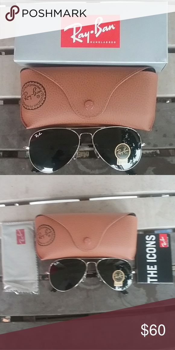 be2f763ff Brand New Black RayBan Aviators 58mm Never Worn Brand new never worn. Great  price. Ray-Ban Ray-Ban Accessories Glasses