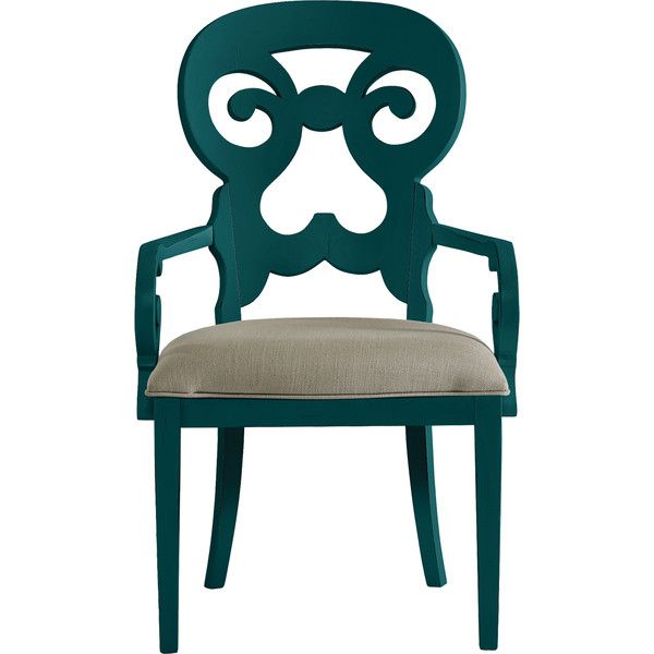 Stanley Furniture Belize Teal Wayfarer Armchair ($714) ❤ liked on Polyvore featuring home, furniture, chairs, colored chairs, teal armchair, teal furniture, teal chair and teal blue chair