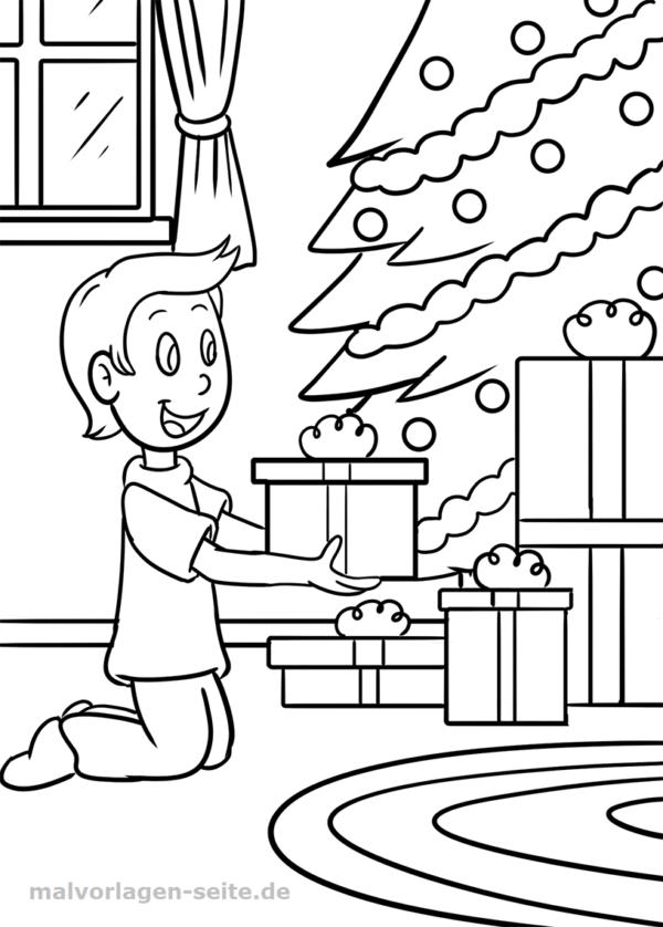 Malvorlage Weihnachten Geschenke | Malvorlagen - Ausmalbilder ...