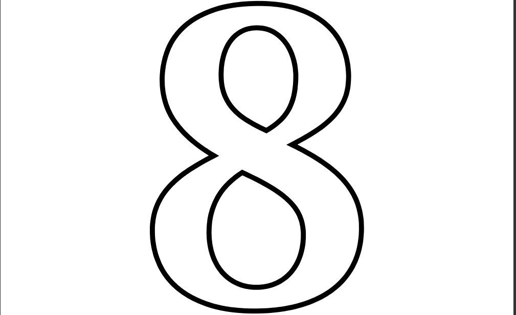 Printable Number 8 Coloring Page Printable Numbers Coloring