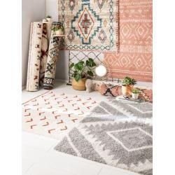 Photo of benuta Hochflorteppich Gobi Cream/Grau 120×170 cm – Berber Teppich benuta