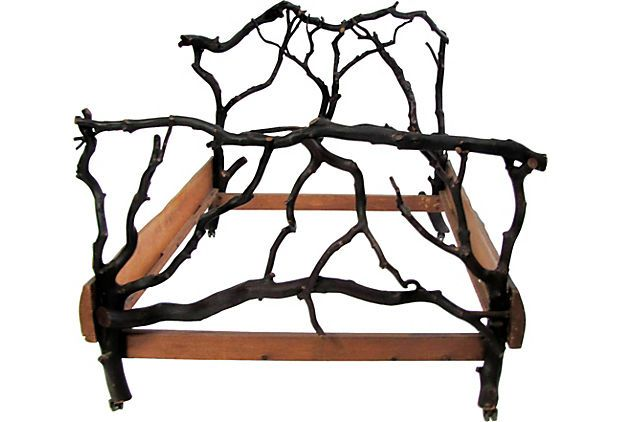 Adirondack Style Twig Full Bed C 1920 Furniture Home