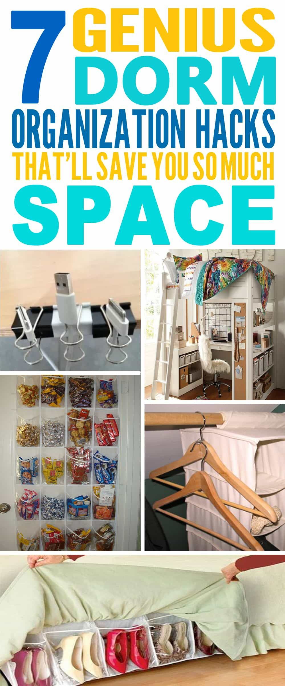 Genius Dorm Room Hacks That Will Save You So Much Space