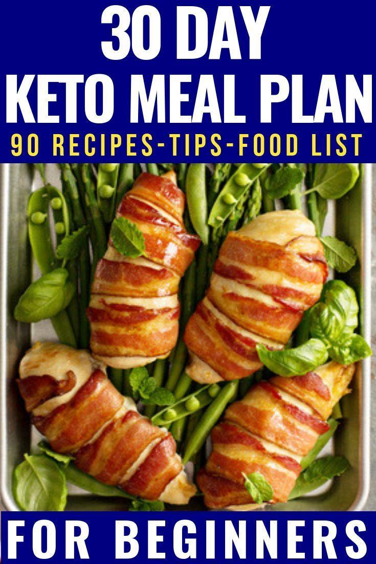Photo of 90 Keto-Diät-Rezepte zum Frühstück, Mittag- und Abendessen! 30-tägiger ketogener Verpflegungsplan