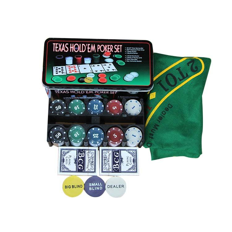 Super Deal 200 Baccarat Chips Bargaining Poker Chips Set